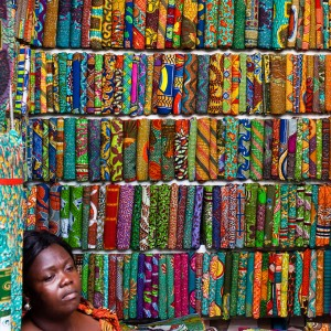 women in colorful traditional African gowns
