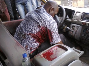 MTN Driver in his pool of blood