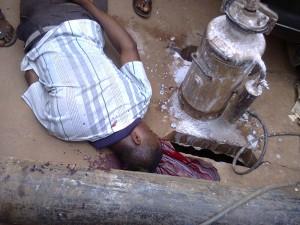 Praise in his pool of blood along Mbanugo Street